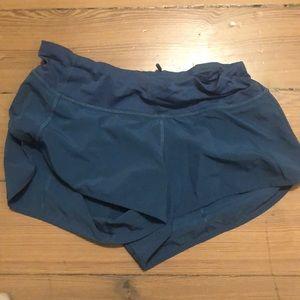 blue size 4 lululemon shorts